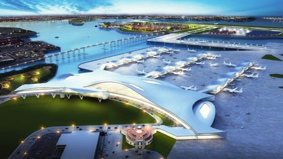 This rendering shows what LaGaurdia Airport could look
