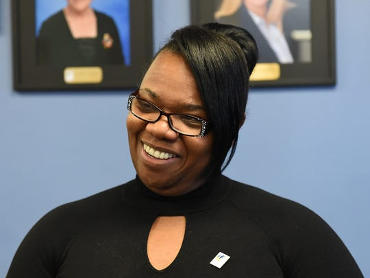 In March, Traci Davis talks to media after being elected as the Washoe County School Distrct superintendent. That hiring was later walked back after open meeting law concerns were raised.