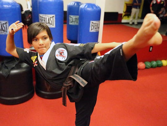 Alexa De La O, a member of the Warriors anti-bullying