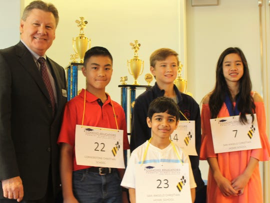 Winners of the 30th annual San Angelo Spelling Bee
