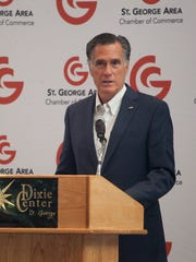 Utah Senate Candidate Mitt Romney meet with members