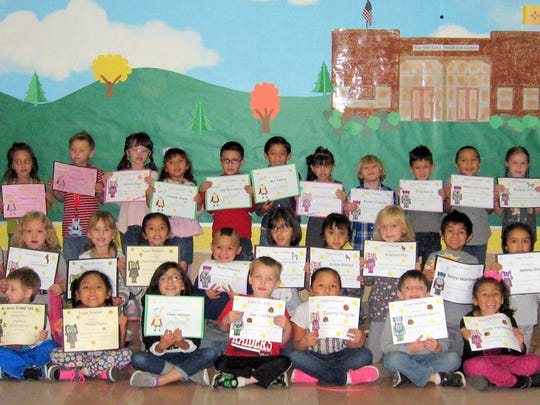 Awards for perfect attendance were given to some Nob Hill Early Childhood Center students.