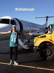 Chandler Parsons in Instagram post.