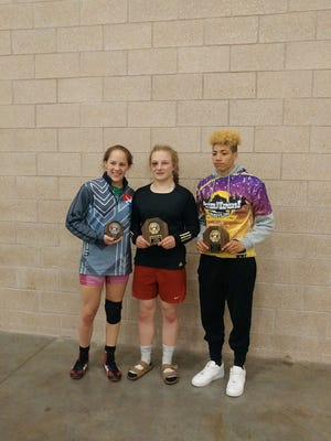 Kiana Pugh, right, poses with other Team Wisconsin members that earned spots on the World Team.