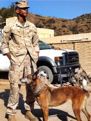 Marine Cpl. James Lynn worked as Lara's handler for