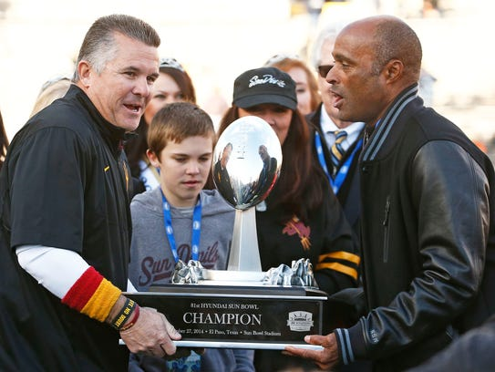 Arizona State head coach Todd Graham and athletic director