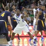 FGCU sophomore Christian Terrell, shown against Bowling Green, is second on the team with 13.4 points a game.