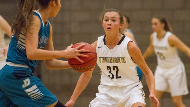 Desert Hills girls basketball takes a 46-36 loss to Juan Diego High School Saturday, Dec. 3, 2016.