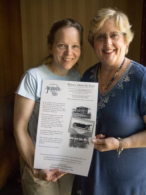 Ellen Elliott and Kathy Petlewski worked on 51 historical posters placed around town to celebrate the city's 150th birthday.