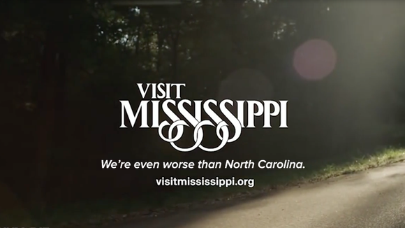 "A video still from a Funny or Die video parodying the Visit Mississippi spots after Gov. Phil Bryant signed the ""religious freedom"" bill, HB1532."