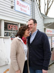 High school sweethearts Renny and Annemarie Abrams at Renny's Store on Jan. 29, 2017 in Dover Plains.