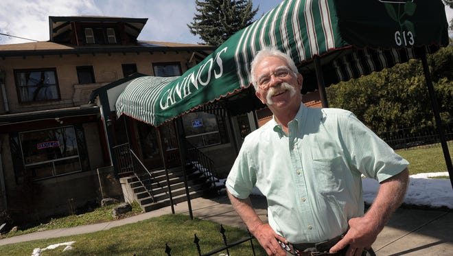 Clyde Canino of Canino's is pictured at the 613 S. College Ave. restaurant in 2013.