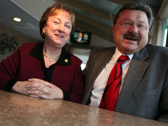 When they are sworn in, Eileen and Mike Kowall will