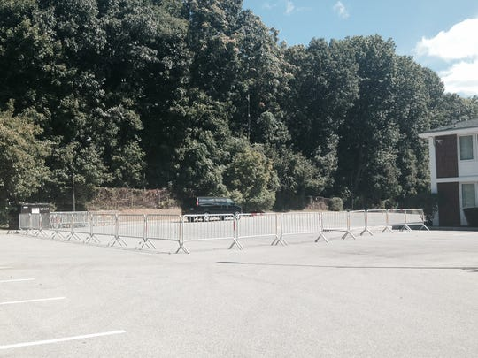 Portions of the parking around the Double Tree in Tarrytown have been closed off.
