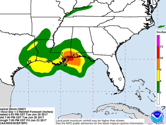 This graphic from the National Hurricane Center shows