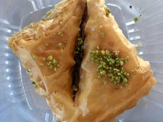 Walnut-pistachio baklava.