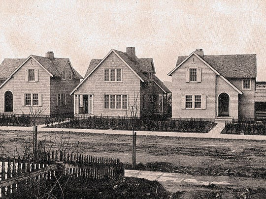 A row of new homes, built in 1918 by the U.S. Housing Corporation, helped alleviate a housing shortage in Bremerton as World War I brought a surge of new city residents to help with the war effort.