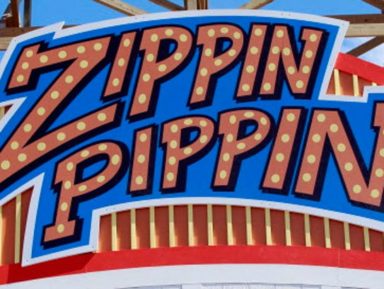 Zippin Pippin is the roller coaster at Bay Beach Amusement