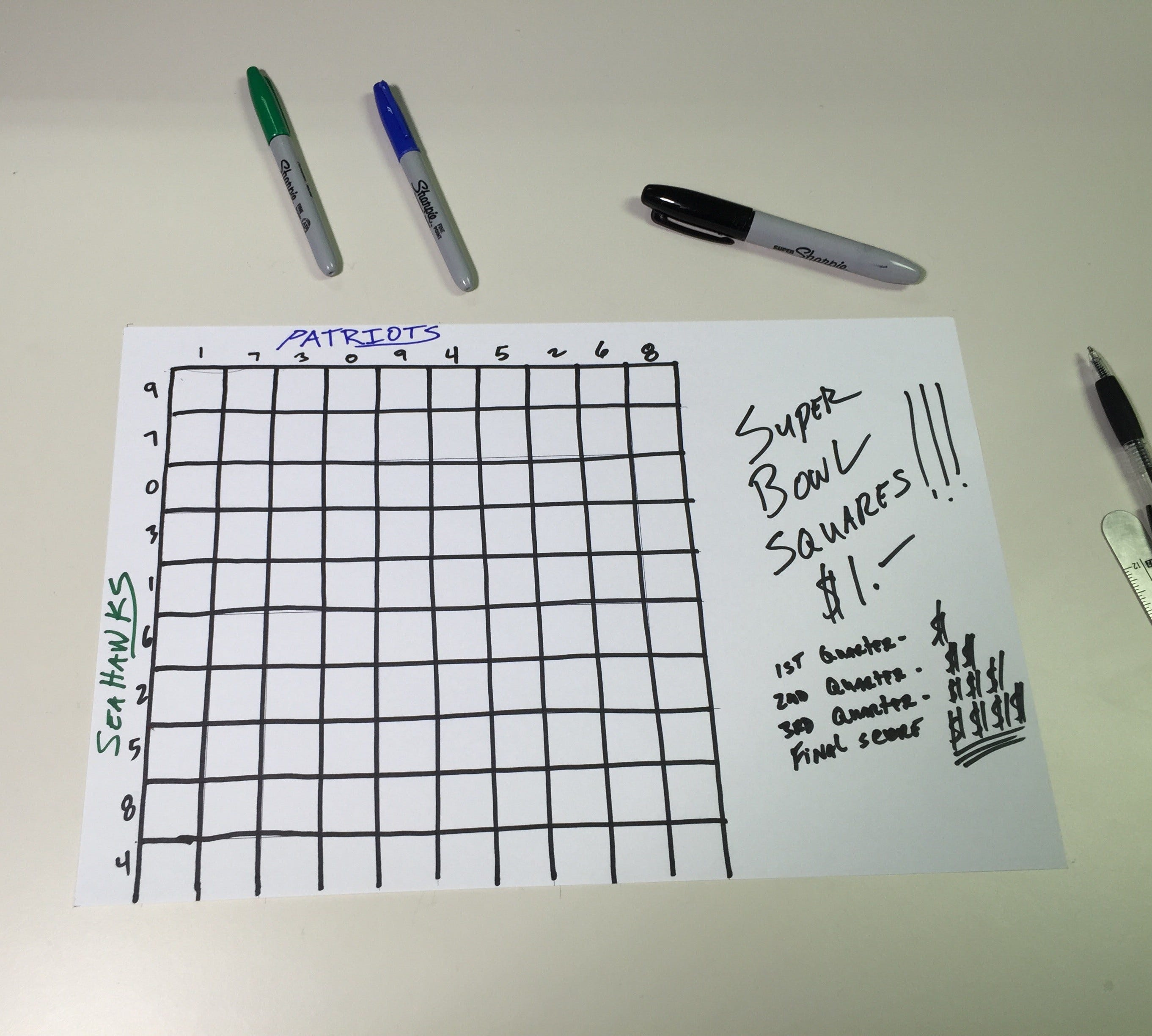 picture about Superbowl Boards Printable identified as Tremendous Bowl squares 2018: Template, pointers, how towards engage in, suitable
