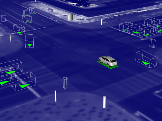 Waymo created a simulated world where as many as 25,000 cars can practice difficult driving situations, including a tricky flashing left-turn arrow like an intersection in Mesa. The cars learn how to handle various situations in the simulated world and that knowledge is shared with the Waymo vehicles on actual roadways.