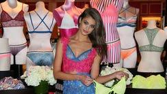 Model Taylor Hill attends Victoria's Secret Launches