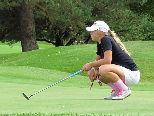 Annie Pietila was eighth in the state golf tournament,