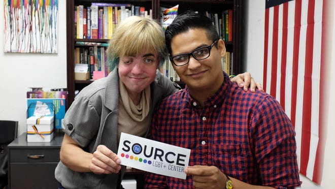 David Rivera, 21, and Caitlyn Rauen, 23, are volunteers at The Source in downtown.