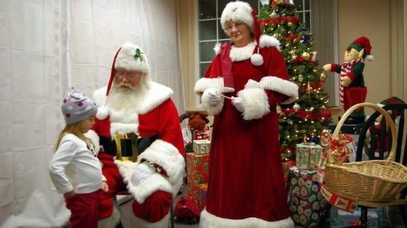 Santa and Mrs. Claus.