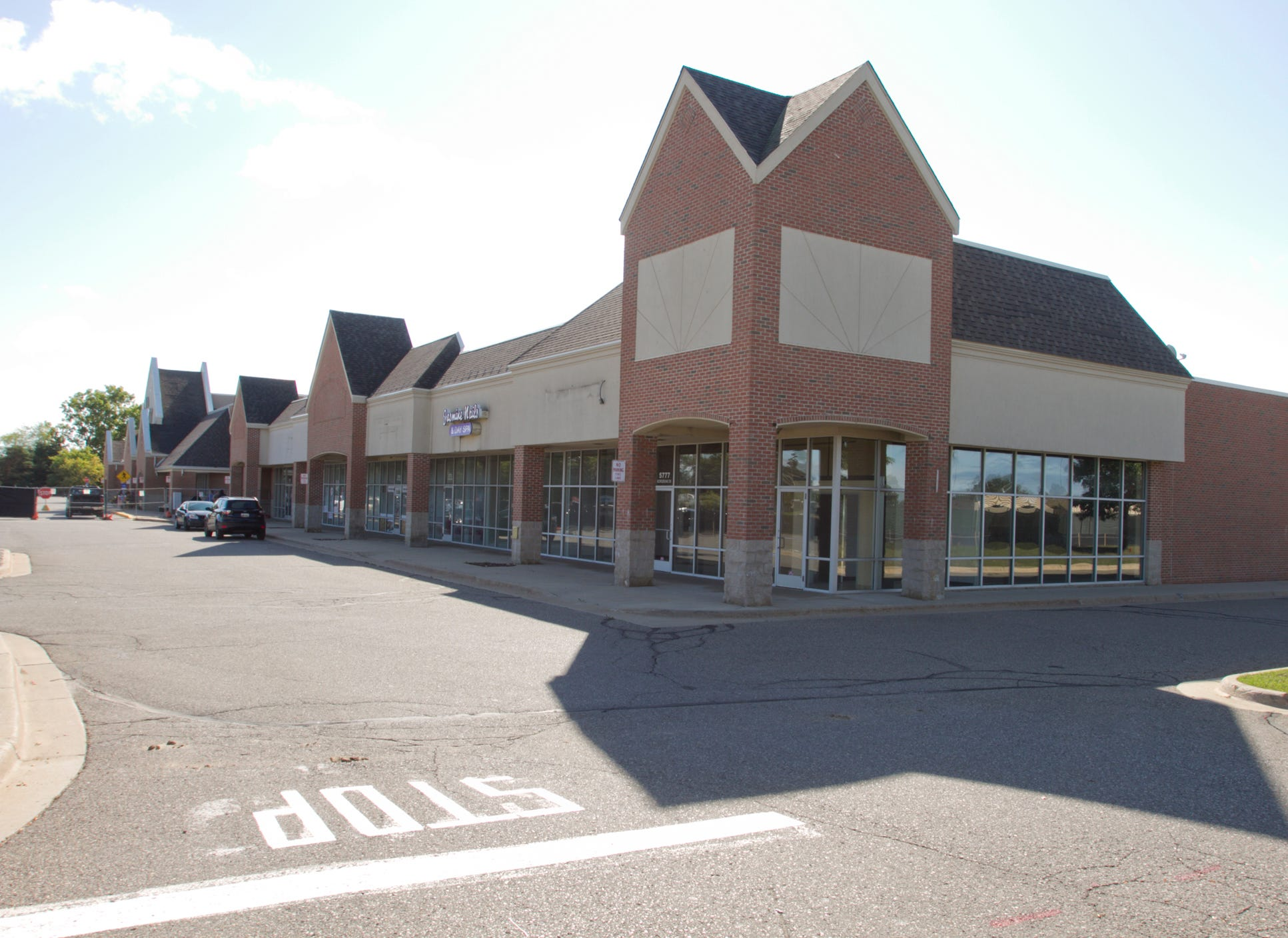Businesses West Of The Brighton Kroger Sit Vacant Wednesday,