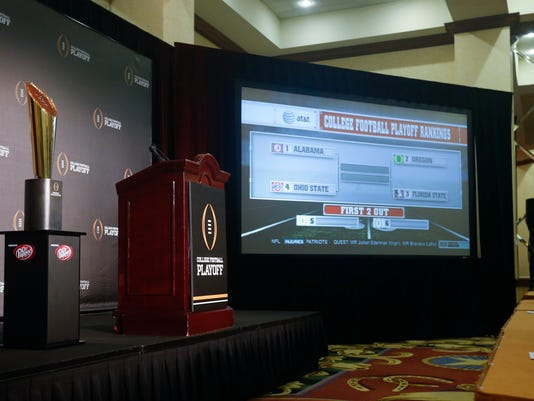 NCAA Football: Playoff Selection Committee-Press Conference