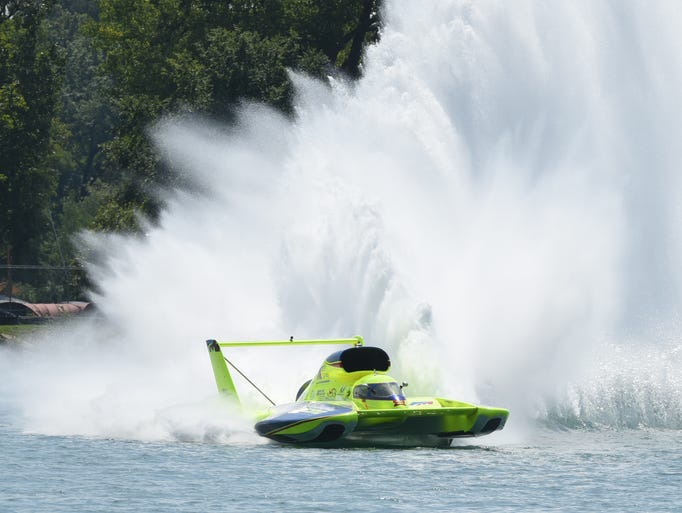 The Peters and May unlimited hydroplanes entry speeds