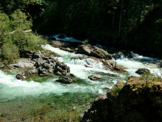 A boy was swept into a river at the North Fork County