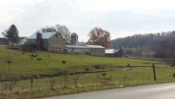 This is a Hellam Township farm, but it wasn't always an agricultural site. It was home to Margaretta Furnace, a major iron-making facility for many years.