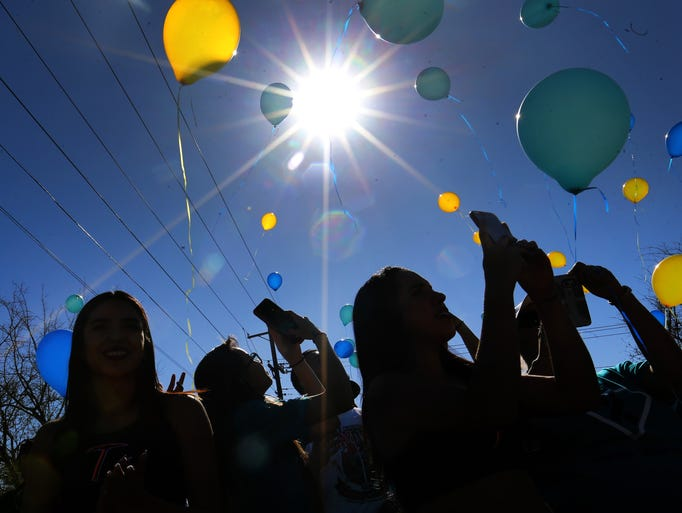 Balloons ascend at Saturday's third annual Great Strides