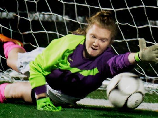 Susquehannock's goalkeeper Maggie Sisler can't stop