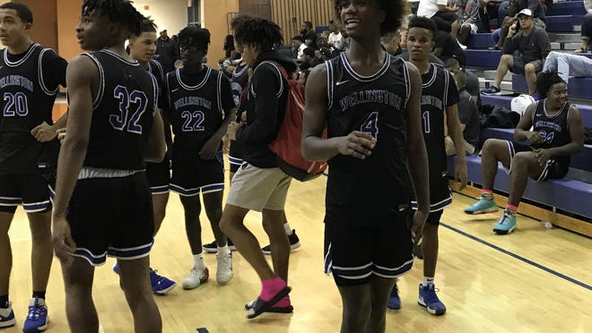 Wellington freshman Marvel Allen, shown in a game from earlier this season, scored 17 points as Wellington beat Palm Beach Lakes 65-62 in a district matchup Tuesday. Jagger Ruiz, not pictured, led the Wolverines with 21 points.