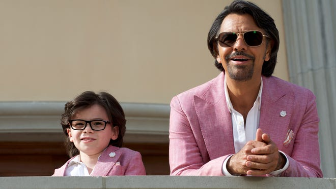 """Maximo (Eugenio Derbez) takes his nephew (Raphael Alejandro) under his wing in """"How to Be a Latin Lover."""""""