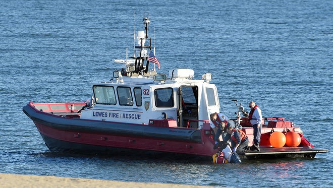 A woman was rescued from the Atlantic Ocean off of Jersey Street in Dewey Beach early Wednesday morning by fire crews from Rehoboth Beach Volunteer Fire Co. and the Lewes Fire Boat assisted by the Coast Guard and DNREC. The victim was transported to Beebe Medical Center by Sussex County EMS and Lewes Fire Dept. ambulance.