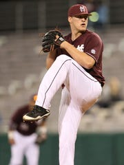 Riley Self allowed five runs against Florida in the SEC Tournament.