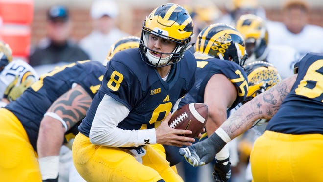 QB John O'Korn will likely get the call if Wilton Speight is not ready Saturday.