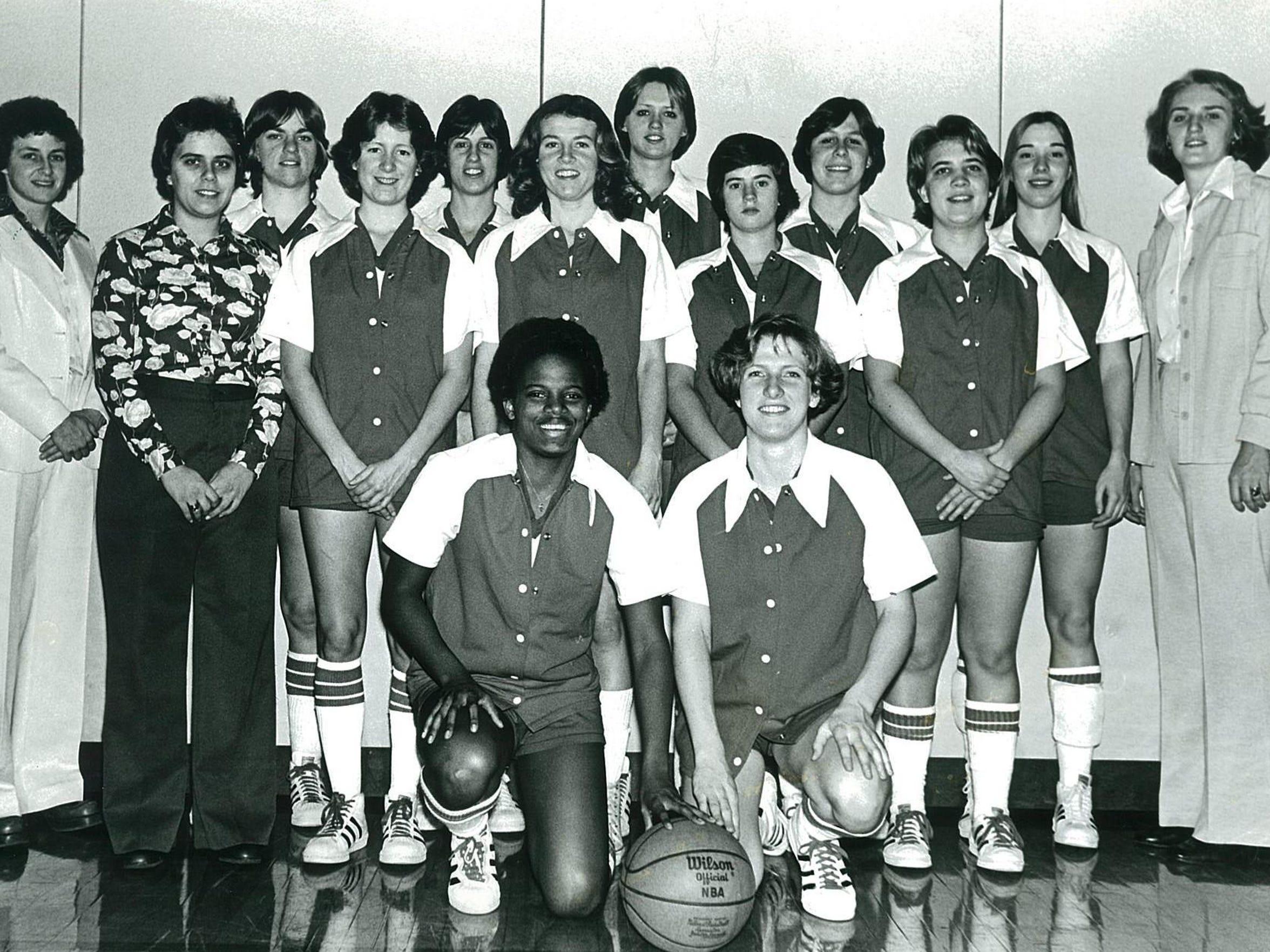The 1976-77 Rutgers women's basketball team, after