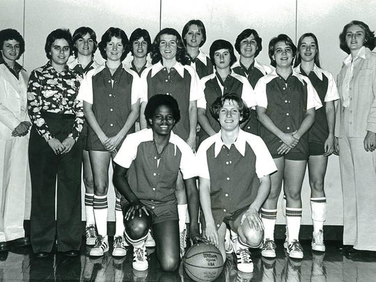 The 1976-77 Rutgers women's basketball team, after the program started in 1974-75.
