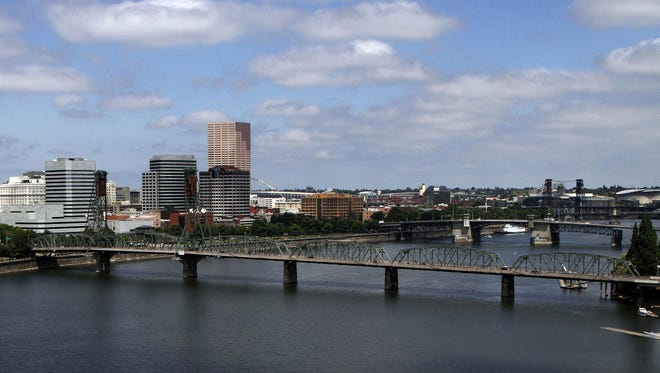 In this Aug. 1, 2012, file  photo, several bridges spanning the Willamette River are shown in Portland. There are numerous bridges in Portland crossing the river, varying in age and ability to withstand a major earthquake.