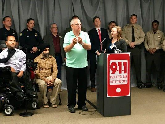 Norbert Enos text-to-911 metro Phoenix