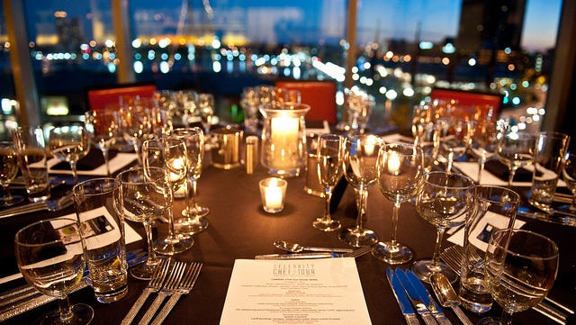 A recent celebrity chef dinner in Baltimore -- before the guests arrive.