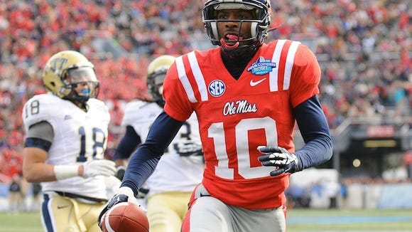 Ole Miss wide receiver Vince Sanders returns for his senior season looking to build on 2012 and forget an uneven 2013.