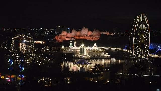 A view of Disneyland in Anaheim.