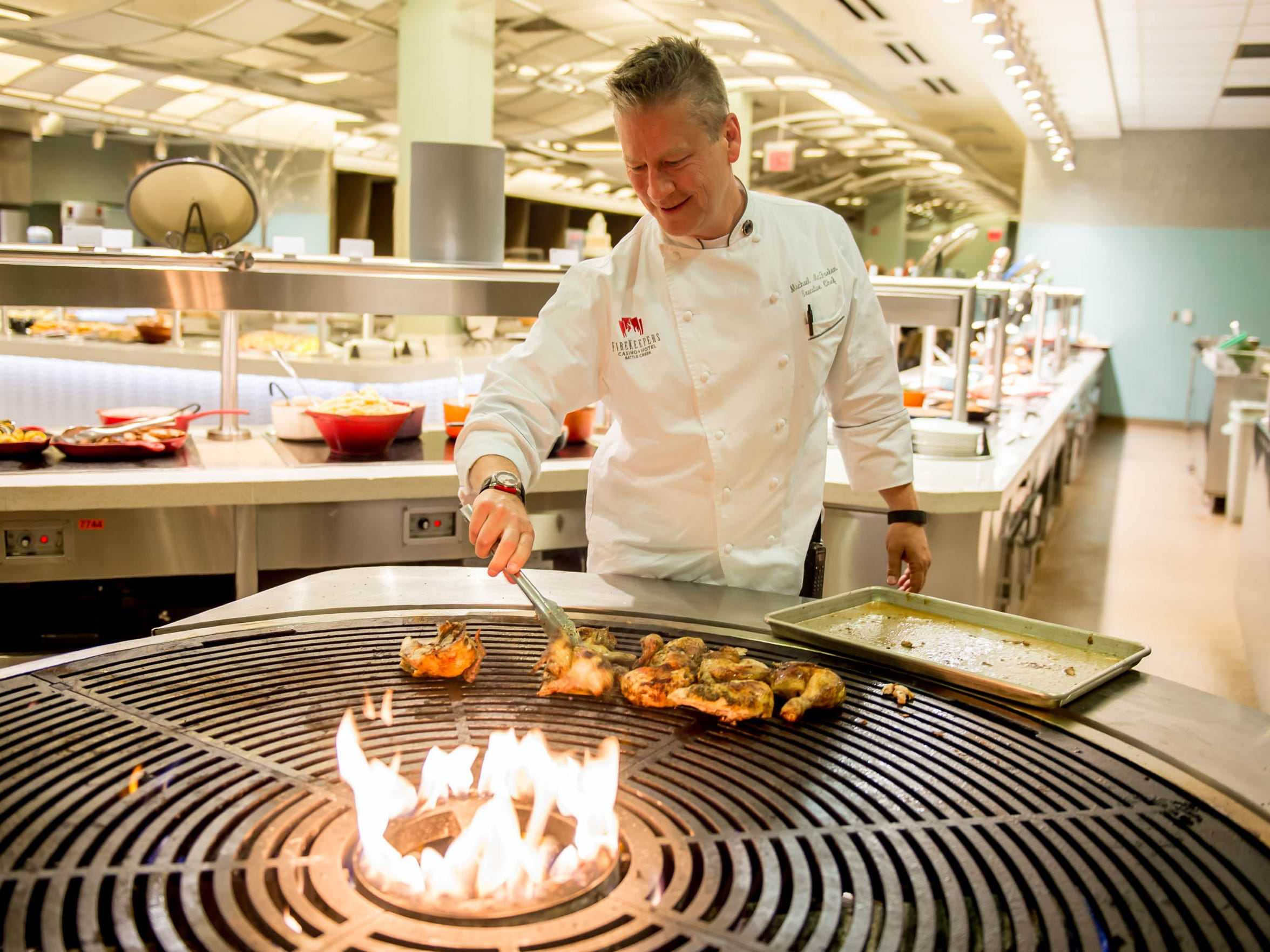 Mike McFarlen, executive chef at the FireKeepers Casino and Hotel, is one of five nominees for the Governor's Service Award Volunteer of the Year.