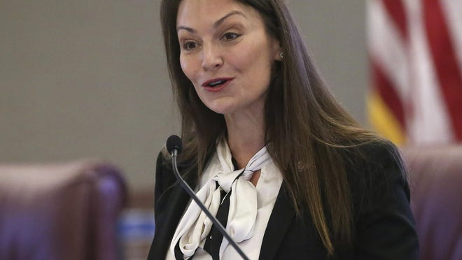 In this Oct. 29 photo, Florida Agriculture Commissioner Nikki Fried speaks at a news conference in Tallahassee.
