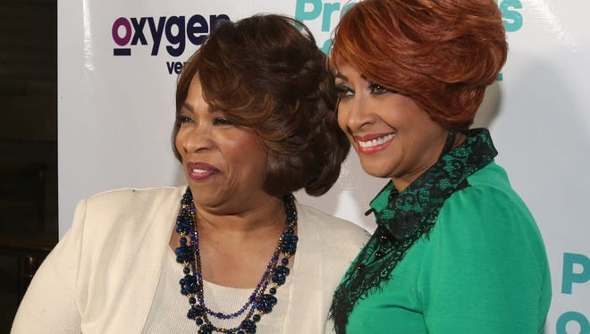 "Bishop Corletta Vaughn and Evangelist Dorinda Clark-Cole at the preview of their reality series ""Preachers of Detroit"" at the Charles H. Wright Museum of African-American History in Detroit on Feb. 5."